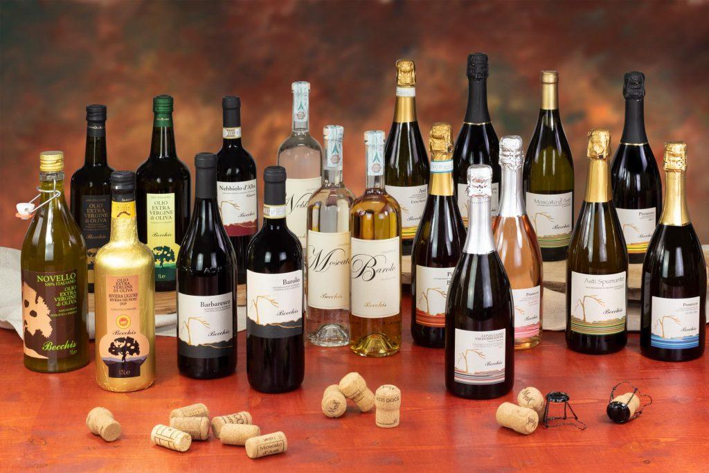 confezione vini, confezione grappe, confezioni olio